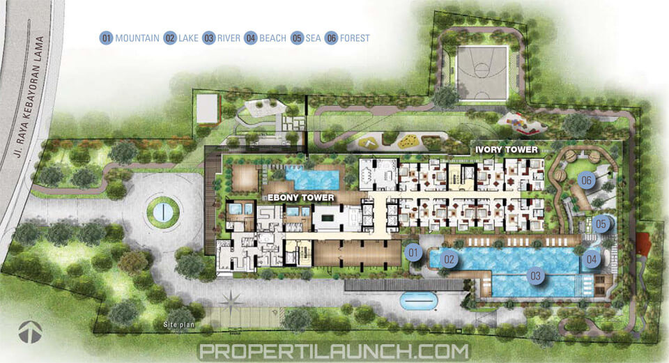 Site Plan Permata Hijau Suites Apartment