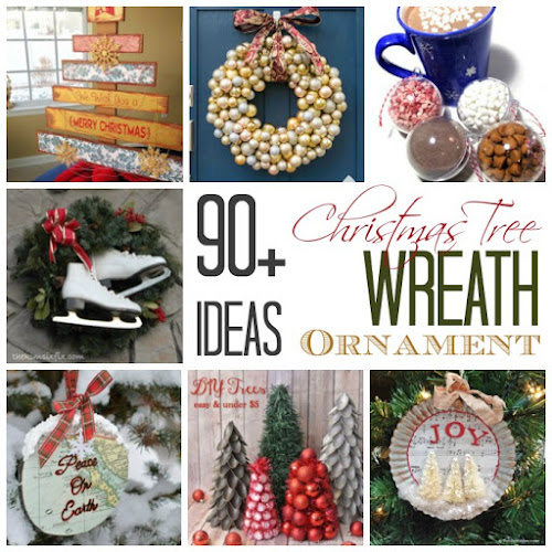 90+ Christmas Tree, Wreath and Ornament Ideas