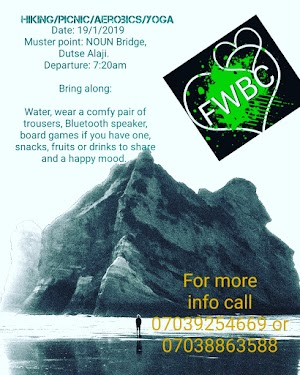 Fun Without Borders Crew is inviting Abuja residents to an upcoming hike this Saturday.
