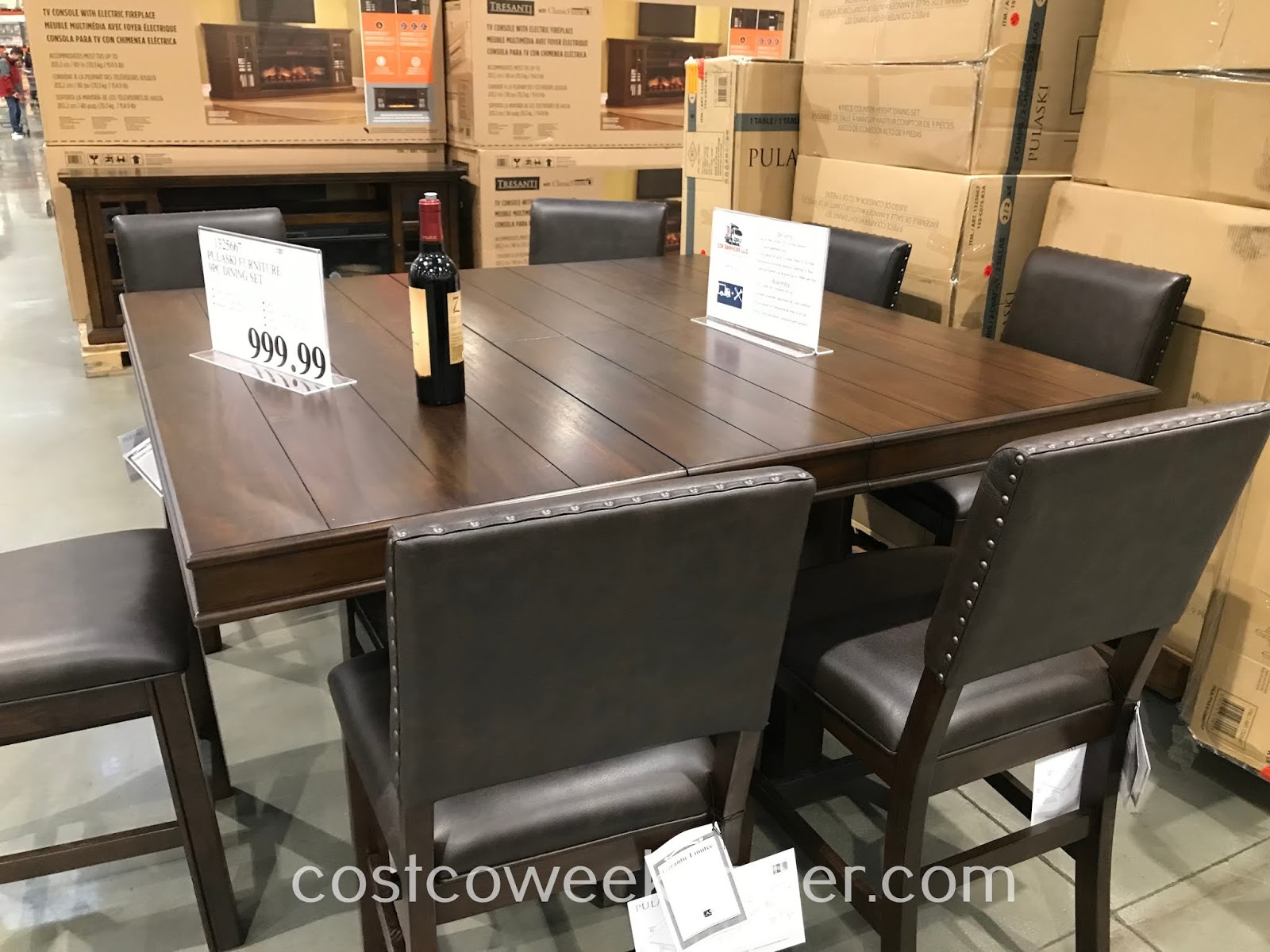 Ensure your dining room is properly furnished with the Pulaski Counter Height Dining Set