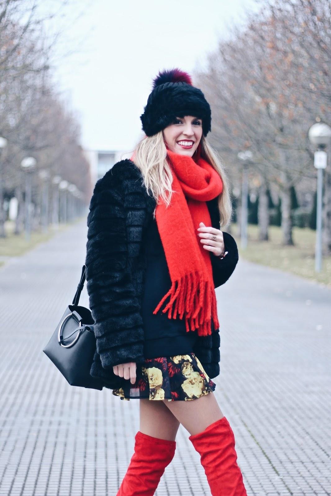 como llevar botas rojas