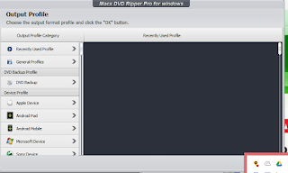 Output Profile of MacXDVD Ripper Software