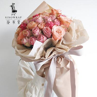 Kertas Buket Bunga / Flower Bouquet Wrapping Paper (Seri XLZ)