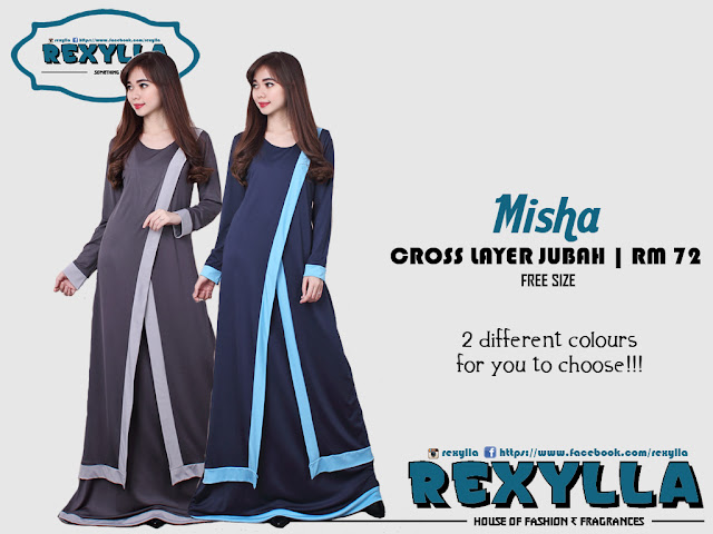rexylla, cross layer, jubah, misha collection
