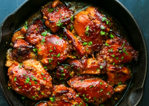 Soy BBQ Baked Chicken Legs