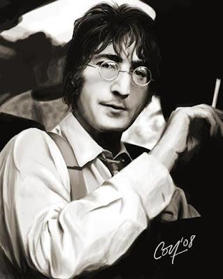 Foto de John Lennon con flequillo