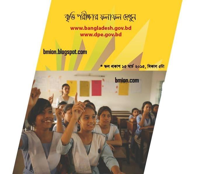 PSC-Primary-Scholarship-Result-2014-Bangladesh-DPE
