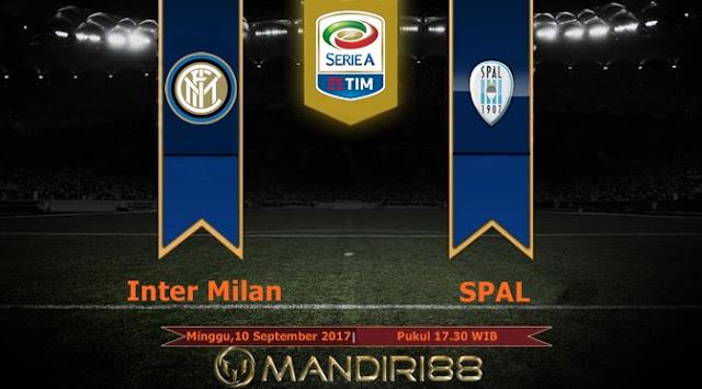 Prediksi Bola : Inter Milan Vs SPAL , Minggu 10 September 2017 Pukul 17.30 WIB