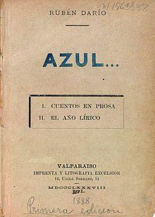 Portada del libro Azul de Ruben Darío
