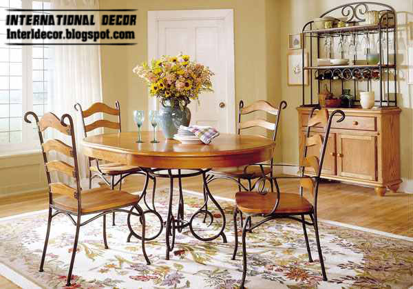 Indoor Iron With Wood Dining Room And Chairs