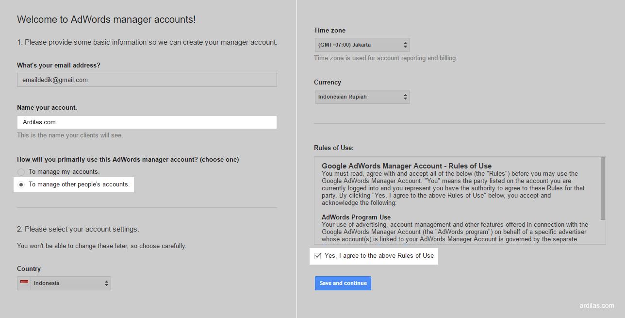 Informasi dasar form - Cara Terbaru Riset Menggunakan Google Keyword Planner