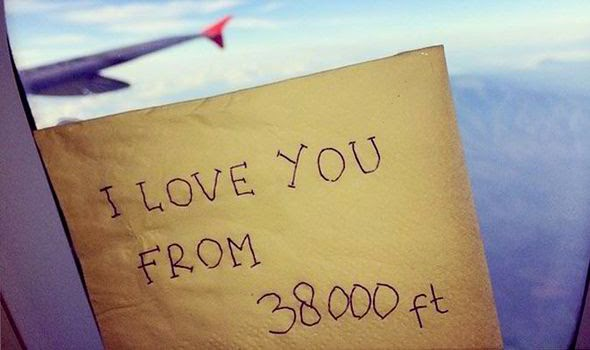 I Love You, From 38.000 ft.