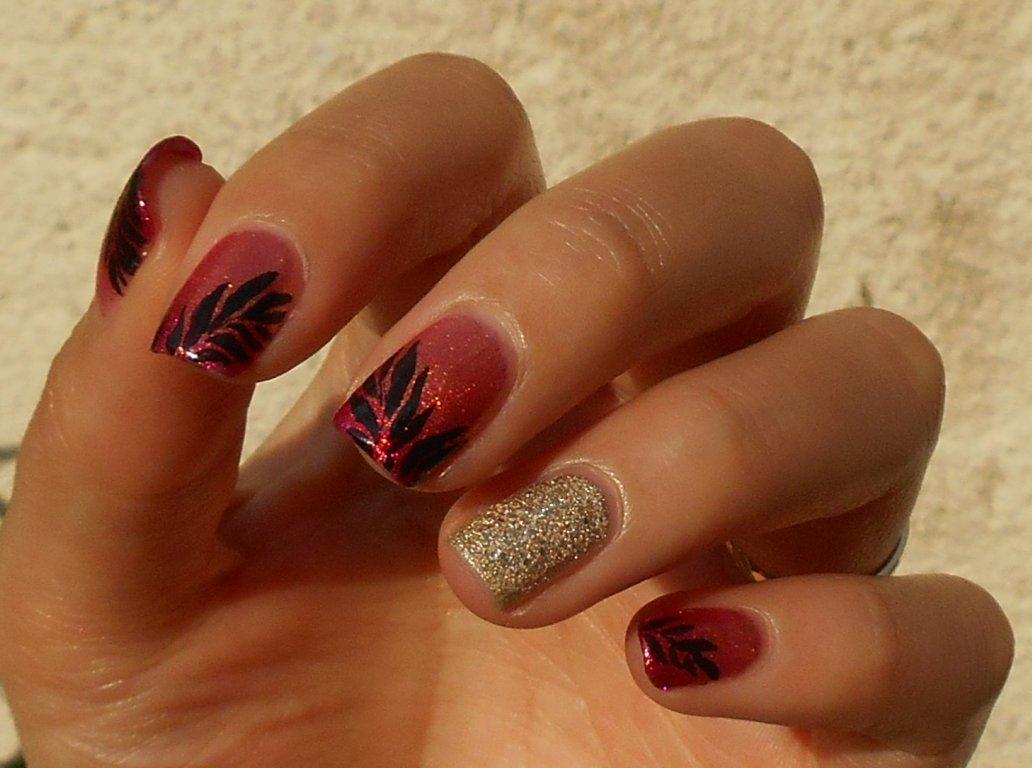 vp nails nail art feuilles de palmier. Black Bedroom Furniture Sets. Home Design Ideas