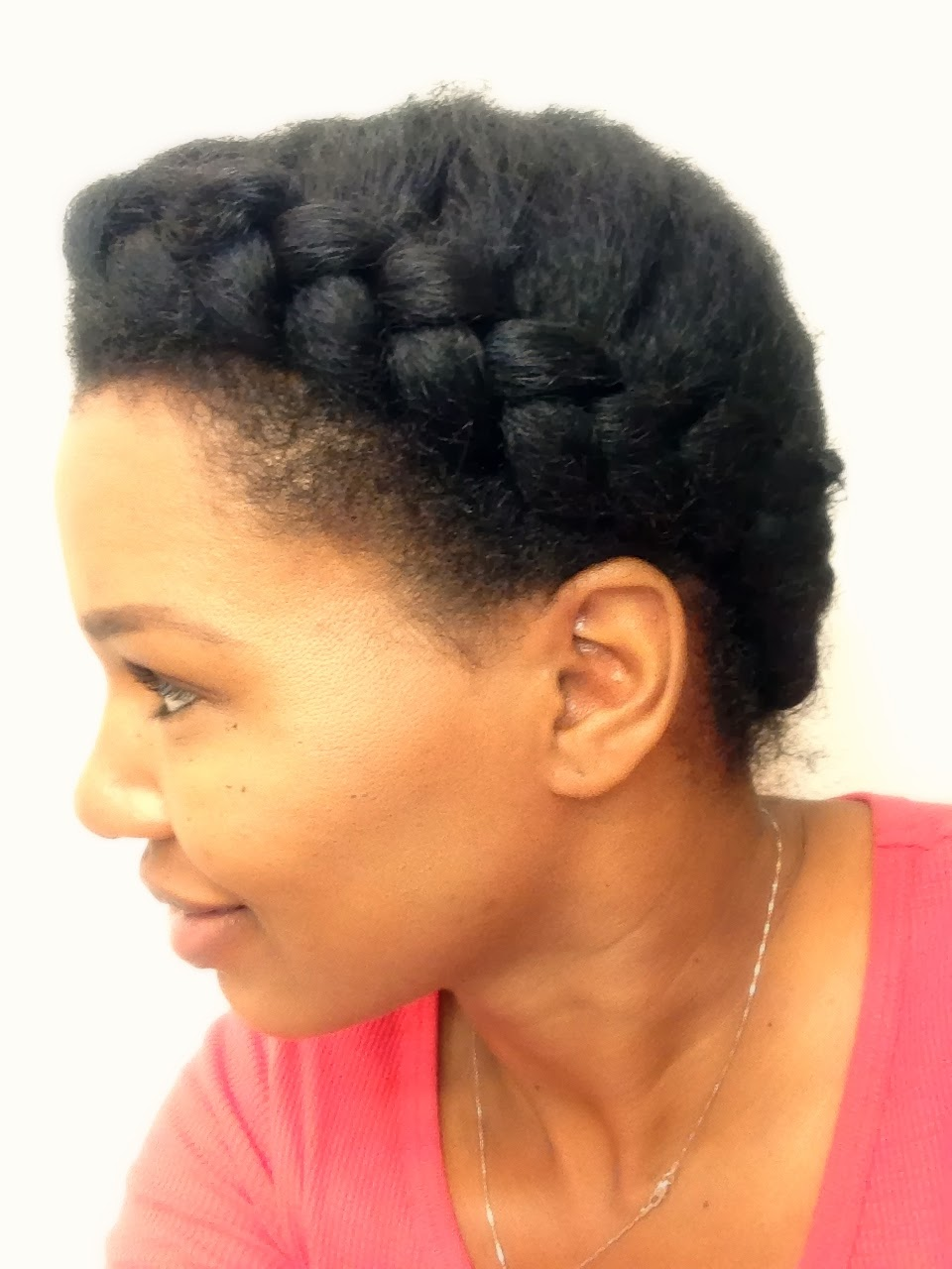 Learning How to French Braid Natural Hair