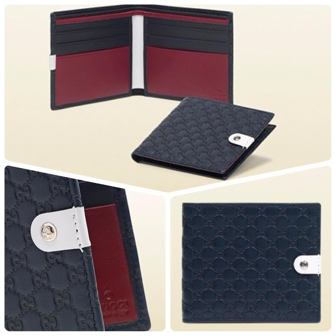 8b6aa1bd94c Gucci Microguccissima Leather Bifold Men s Wallet in Navy