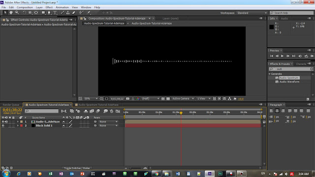 Tutorial After Effect - Audio Spectrum Atau Audio Visualization