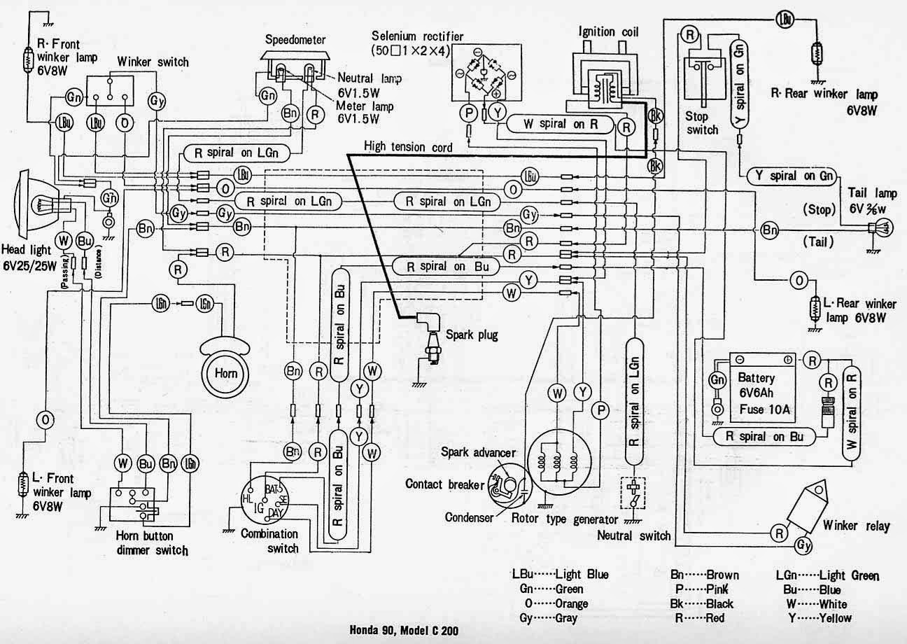 wiring diagrams and manual ebooks classic honda c200 wiring
