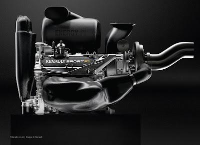 vista laterale motore Renault F1 Turbo 2014,