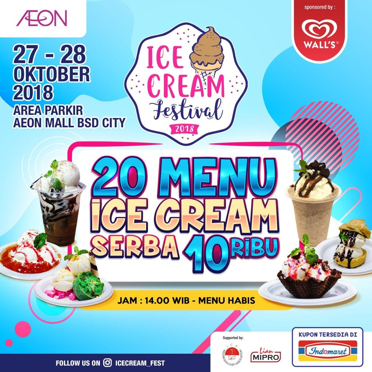 Indomaret - Promo Kupon Ice Cream Festival 2018 AEON Mall BSD City