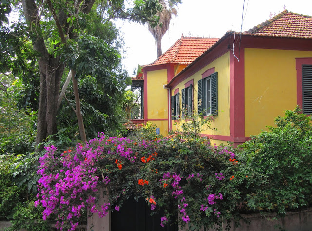 a colorful house in the heart of the city