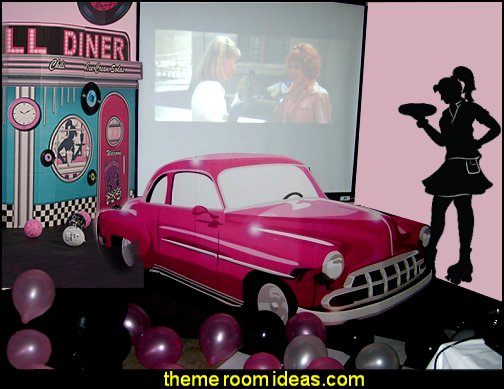 50s party props decor  50s party ideas - 50s party decorations - 1950s Theme Party - 1950's Rock and  Roll Themed Party Supplies - 50s Rock and Roll Theme Party - 50s party decorations - 50s party props - 50s diner party