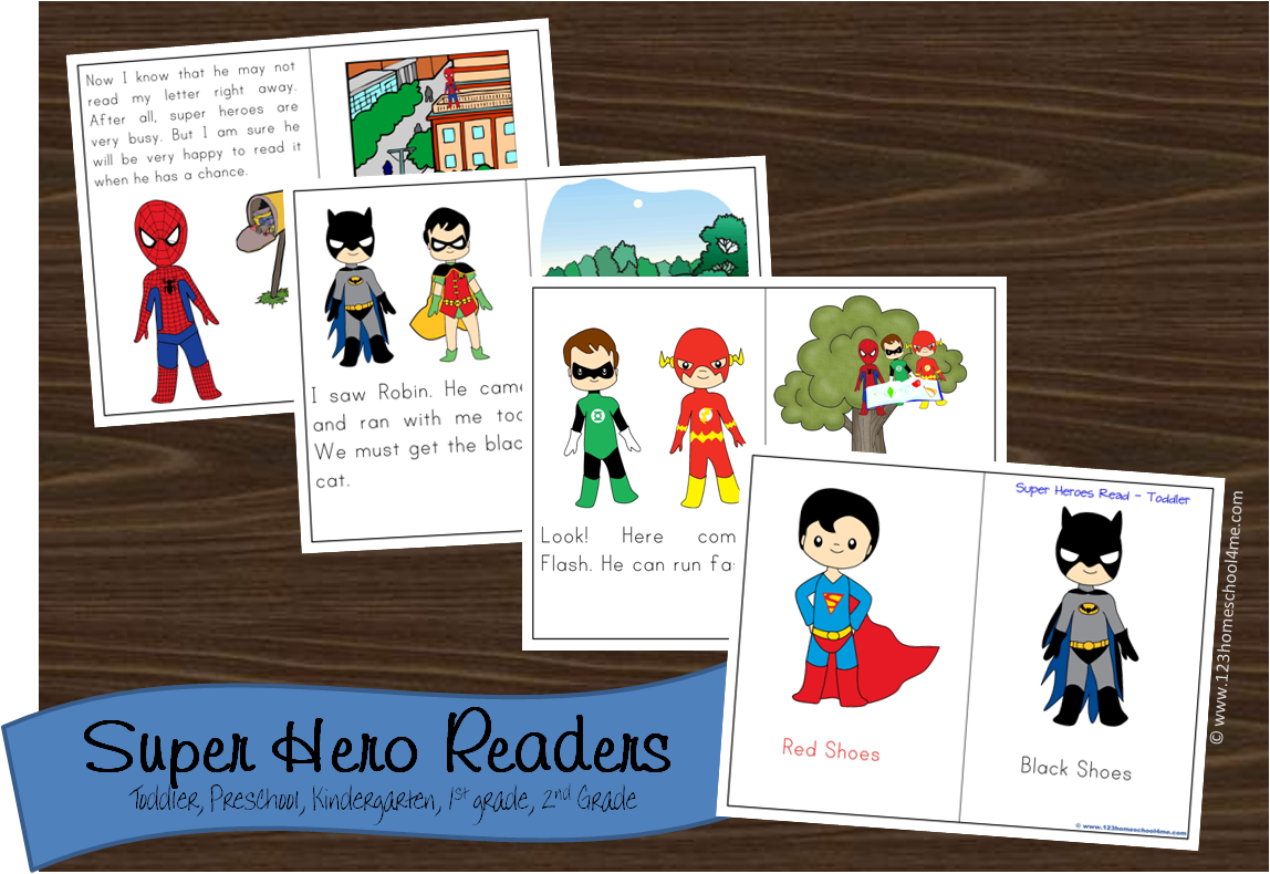 Free Super Hero Reader Books