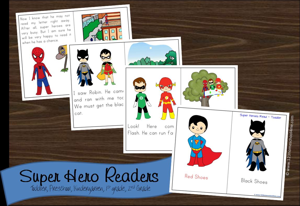 Free Super Hero Reader Books