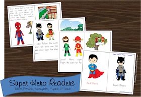 Super Hero Sight Word Readers for Toddler, Preschool, Kindergarten, 1st grade, 2nd grade