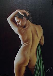 pintura realista oleo sobre lienzo - Jorge Marin