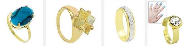 Revenda de Bijuterias e Anéis Folheados a Ouro e Prata