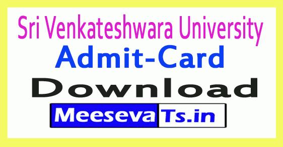 Sri Venkateshwara University SVU PG Exam Hall Tickets