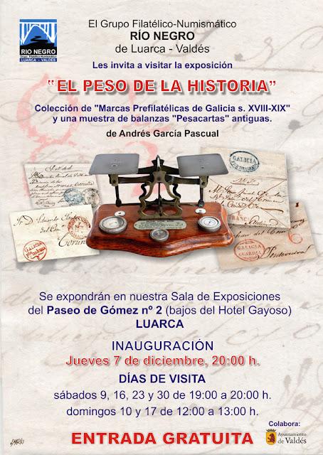 Cartel de exposición filatélica en Luarca