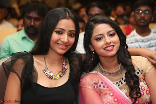 Geethanjali and Swetha Basu at Mixture Potlam Movie Audio Launch Feb 2017 009.JPG