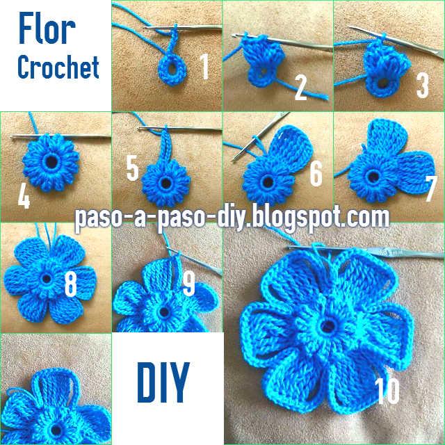 aprende a tejer una flor crochet