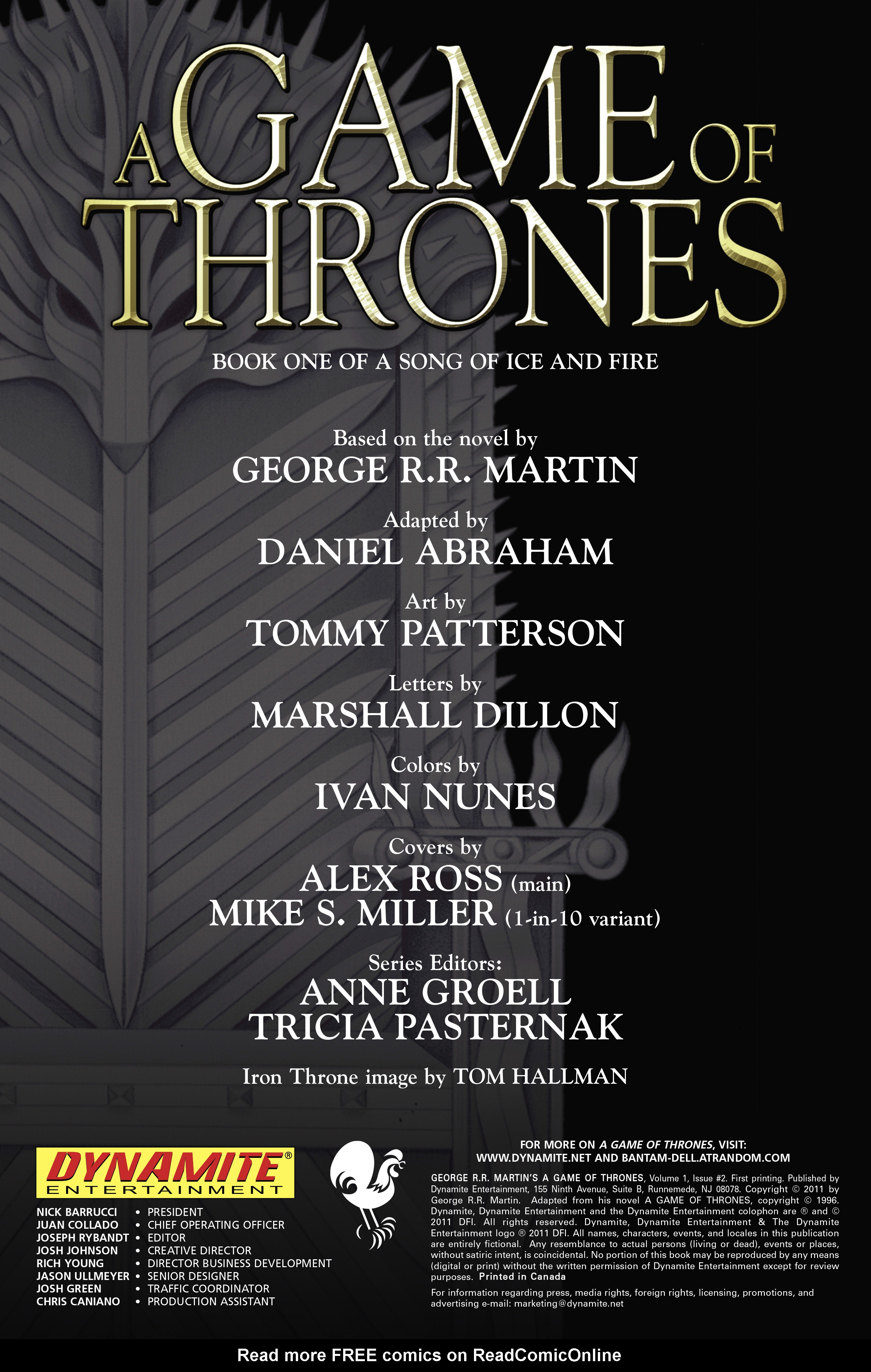 Read online A Game Of Thrones comic -  Issue #2 - 2