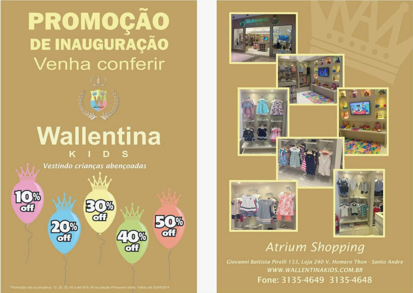 58ddfa250fc Wallentina Kids  Conheça a nossa loja!