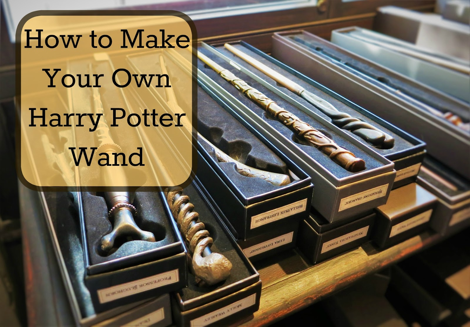 Art Project 49 Making Harry Potter Wands