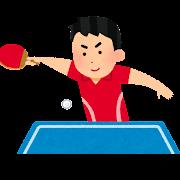 卓球のイラスト(男性)
