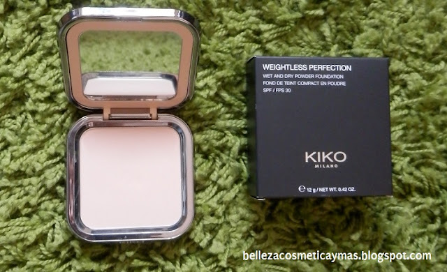 Polvos compactos Weightless Perfection de Kiko 15 Cool Rose