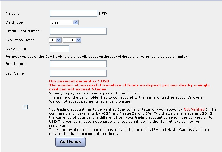 Verified by visa forex