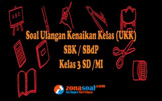 Kumpulan Materi Soal UKK SBK/SBdP Kelas 3 SD Lengkap Kunci Jawaban