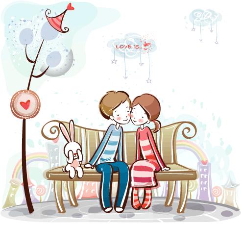 Estampas de San Valentín - Vector