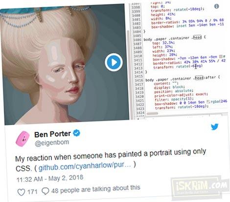 Amazing, Orang Ini Melukis Dengan Pure HTML dan CSS