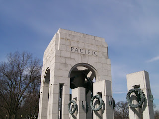 """Pacific"" portion of the WWII Memorial in the National Mall."
