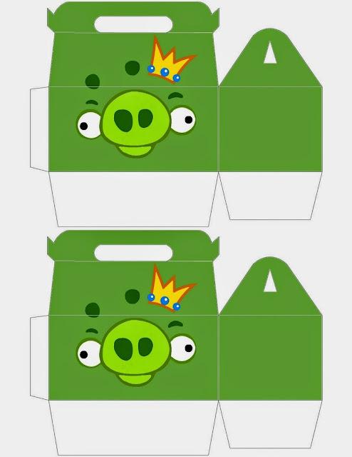 Cajas de  Angry Birds  para imprimir gratis.