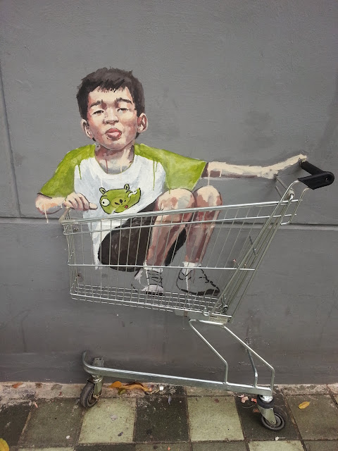 Playful Street Art By Lithuanian Artist Ernest Zacharevic On The Streets of Singapore. 3