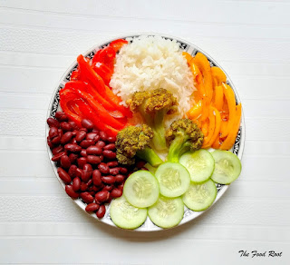 Buddha bowl is healthy, filling meal. It is usually composed of grains, proteins and veggies.