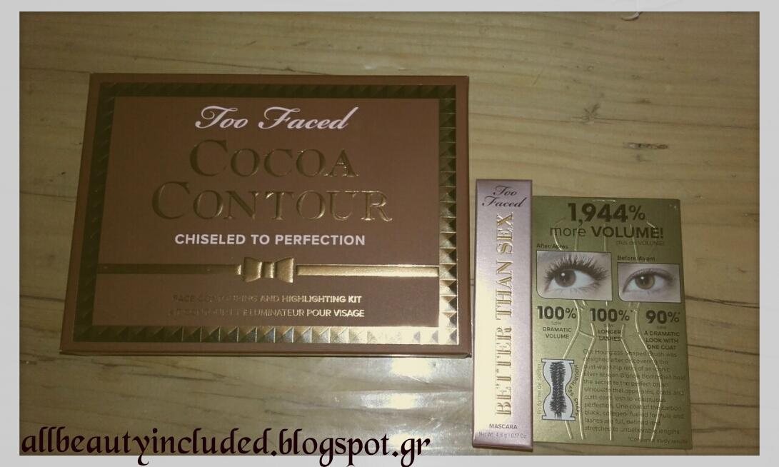 8c12a6f2d9f -Too faced cocoa contour. Για την παλέτα αυτή είχα ακούσει πολύ καλά σχόλια  και αφού είχα δοκιμάσει το chocolate soleir bronzer της εταιρείας και μου  άρεσε ...