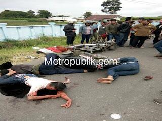 Honda Revo kontra Mio, mengakibatkan Mawadi meninggal Dunia