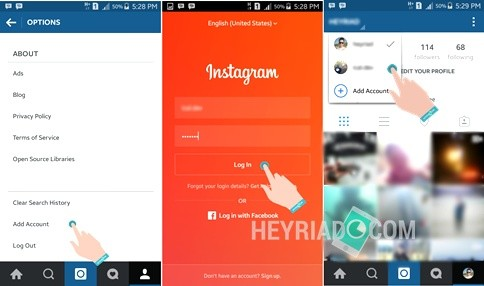 Cara Log in 2 Akun Instagram di Android